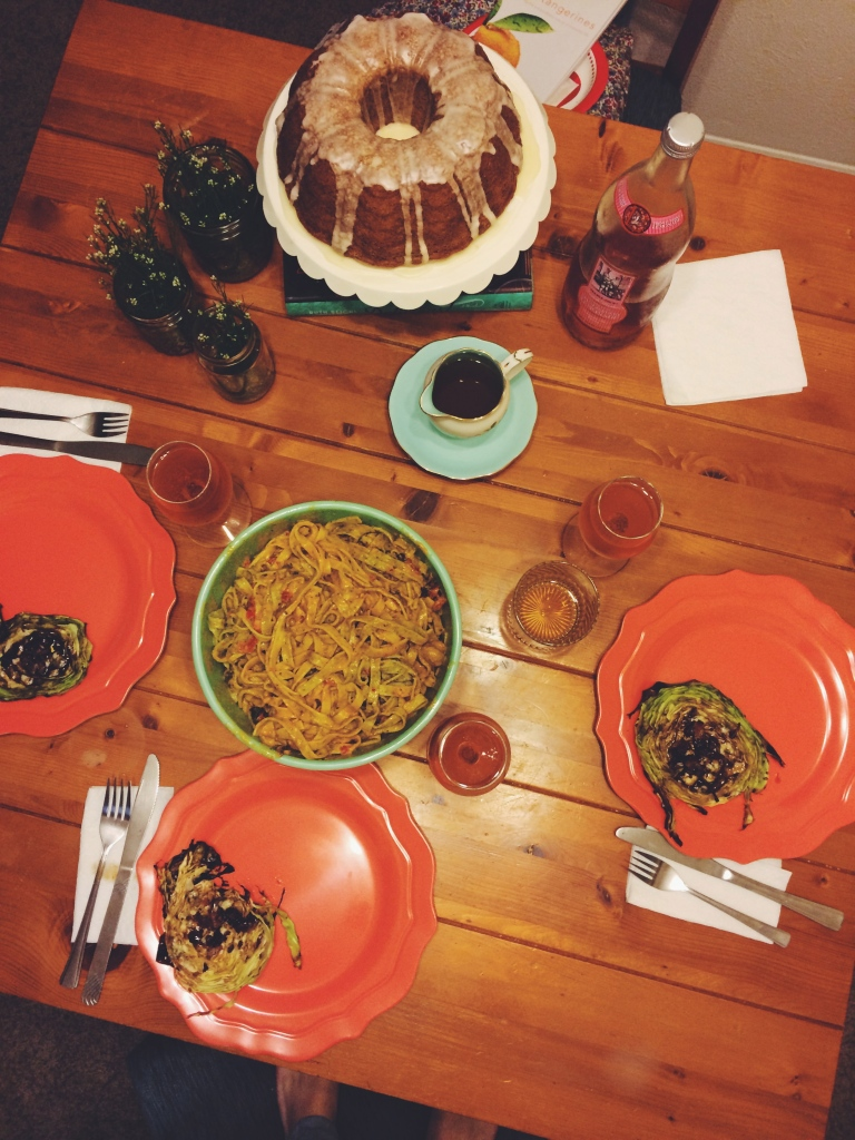 Dinner set-up